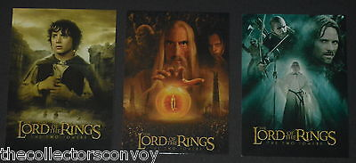 Hobby Japan - Lord of the Rings The Two Towers = 3 (Non-Foil) Poster cards Set