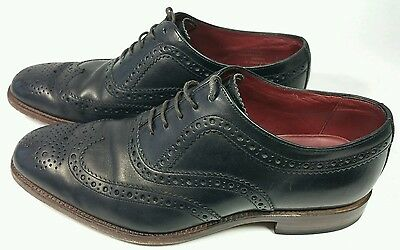 Loake Fearnley Mens Black Leather Brogue shoes. Sz 8. F Fit. RRP £160. Bargain