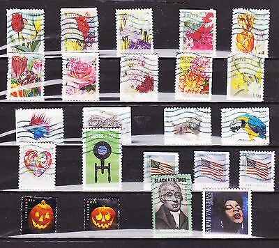 USA 23 Different  Used 2016 stamps