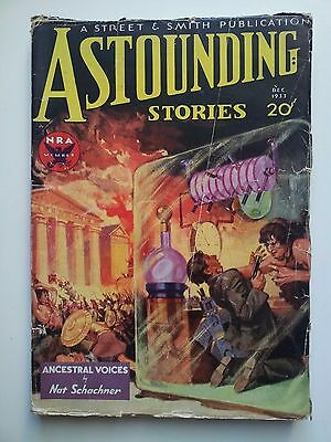 Astounding Stories December 1933 Vol XII. # 4 vintage pulp fiction comic