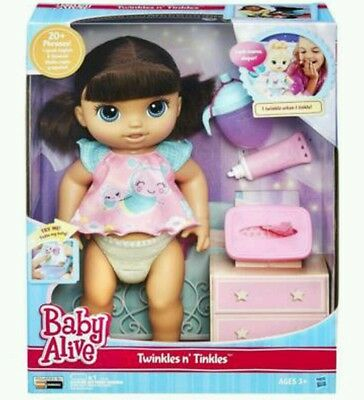 Baby Alive Twinkles n' Tinkles Doll Set - Brunette - BRAND NEW