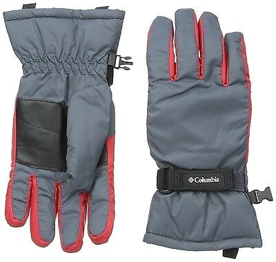 Columbia Youth Boy's Core Glove, Graphite Bright Red Size Large