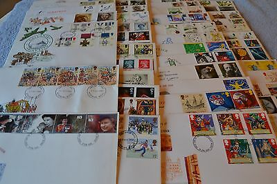 Job Lot of 44 First Day Stamps with Envelopes & Letter / 1988 - 1992