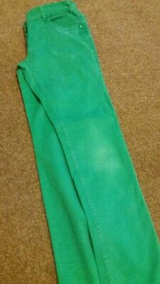Next girls green jeans  age 10 yrs