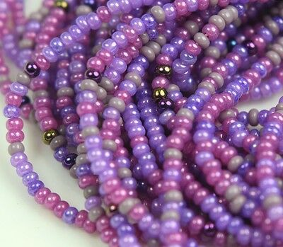 "Czech Glass Seed Beads 11/0 "" MULBERRY MIXTURE "" 1 Hank"