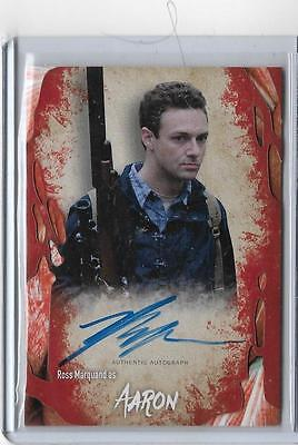 2016 Walking Dead Ross Marquand As Aaron Authentic Autograph Card
