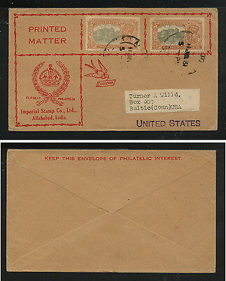India  129 on cover,  Imperial Stamp co  cover to  US      KL1129