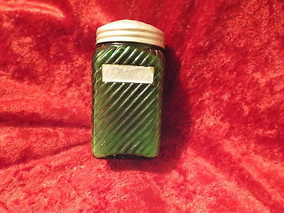 Vintage Salt Shaker-Green Glass-Depression Era-Great Condition-LOOK