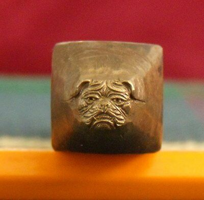 Antique Bulldog Jewelers Chasing Repousse Stamp Punch Engraving Tool