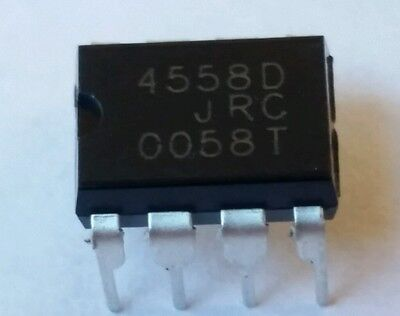 4 pcs JRC4558D and 4  Dip-8 Sockets replaces LM4558, RC4558***USA seller***