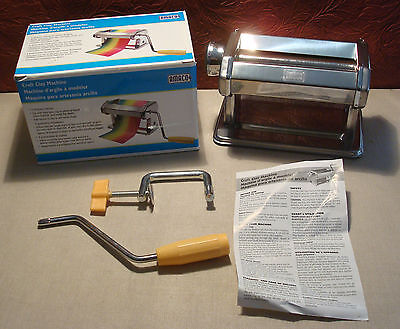 AMACO Craft Polymer Clay Pasta Machine 9 Thickness Settings Table Clamp & Handle