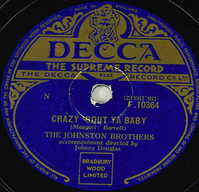 Schellackplatte - The Johnston Brothers - Crazy Bout Ya Baby / Sh-Boo