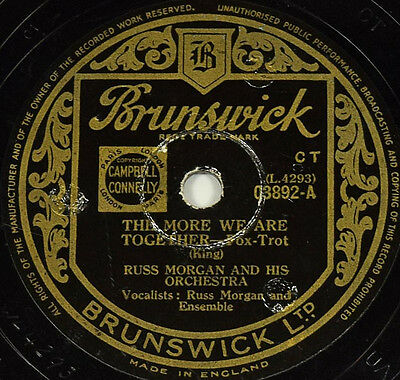 Schellackplatte - Russ Morgan - So Tired / The More We Are Together gramophone