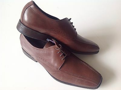 Alessandro nerlni brown leather slip on mens shoes size 8 code (27)