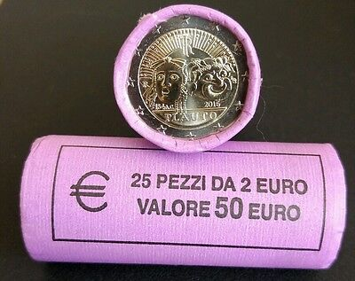 """2 € Italy 2016 """"2200 Anniversary of the Death of Plautus"""" UNC envío Ya!!"""
