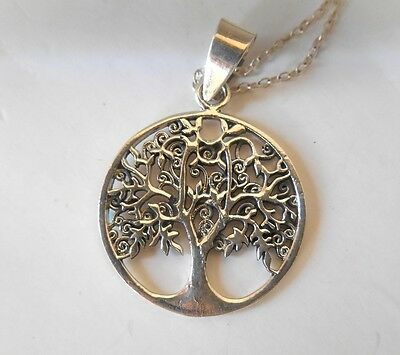 NEW IN BOX Tree of life pendant necklace 925 sterling silver Spanish artisan