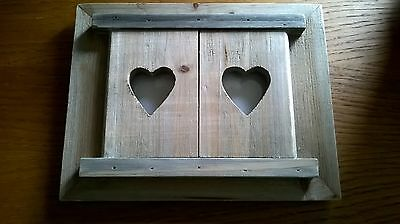 Shabby Chic Style Wooden Heart  Frame Acacia Wood, brand new