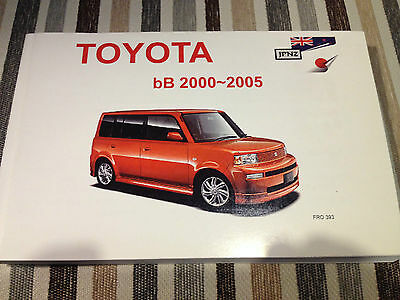 Toyota bB 2000 to 2005 Owner's Manual / Handbook