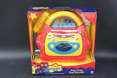 The Wiggles Sing Along Karaoke Cassette Tape Recorder Kids Toy Spin Master NIB