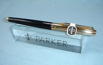 Parker 75 Imperial / Black  Fountain Pen, 14k Gold French Nib.
