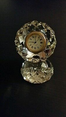 Cut crystal clock