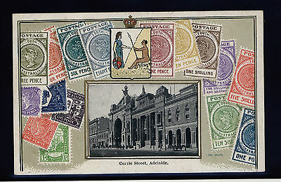 Early 1900's V.S.M Embossed Stamp Postcard - South Australia - MINT