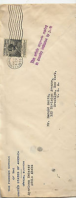 Ethiopia    US    diplomatic pouch  mail  cover   1953                  MS1119