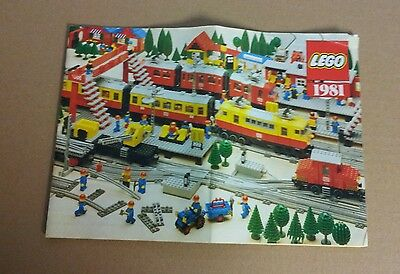Lego Train Booklet, Brochure, Catalogue from 1981. Very Rare Collectors Item.