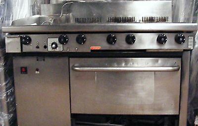 Goldstein 6 burner grill range with convection oven