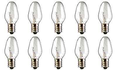 Box of 10 Bulbs 10C7 Bulb 10 Watt 120 Volt Candelabra E12 Screw Base 120V 10W