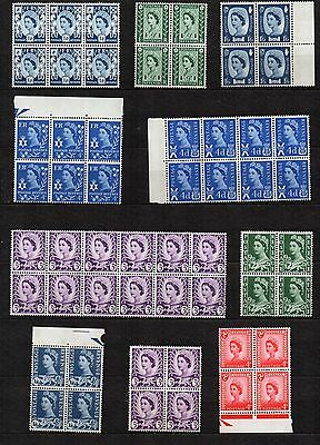 GB REGIONALS Stamps Collection BLOCKS  Including NO WMKs  Re:QE255