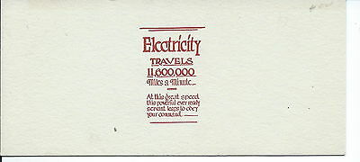 J-089 - Electricity Travels 11,000,000 mpm, Advertising Ink Blotter 1930s-50's