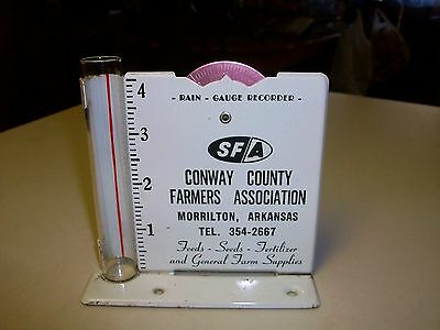 Vintage~Advertising Rain Gauge~Conway County Farmers Assoc.~With Recorder Dial