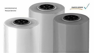 """Facemount UV 38"""" x 200' Clear Mounting Adhesive Double Sided Adhesive Film Roll"""