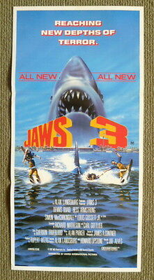 Jaws 3 ~ Original 1982 Daybill Movie Poster