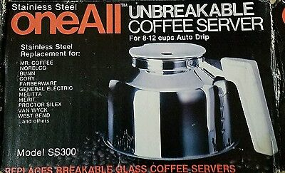 VTG Medelco Stainless Steel unbreakable coffee server replacement pot for auto