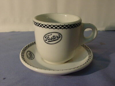 Vintage Scammell's Trenton China Foster's Restaurant Large Cup & Saucer