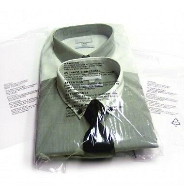 Clear Polythene Garment Bags Plastic Clothes Covers Resealable Protector Storage