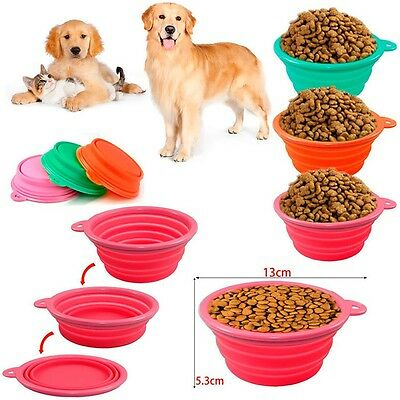 Sale Durable Collapsible Travel Pet Cat Dog Silicone Water Feeding Bowl Feeder