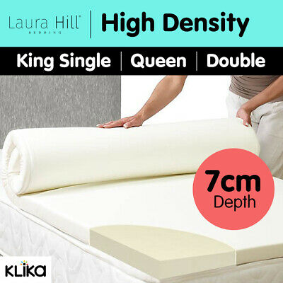 Foam Mattress Topper Underlay Fabric Jacquard Cover Double Queen 7cm Protector