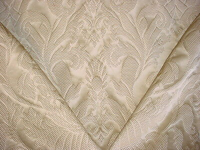 12Y Breathtaking Lee Jofa Mulberry Textured Scroll Silk Damask Upholstery Fabric