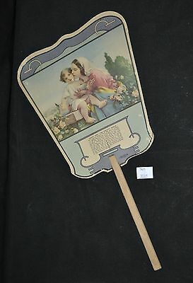 ThriftCHI ~ Mary & Infant Jesus Advertising Fan Haines The Shoe Wizard