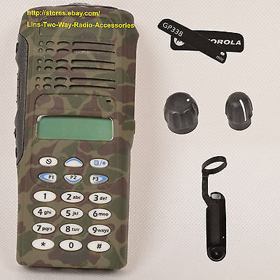 Camouflage replacement Motorola GP338 housing ( LCD +Keypad+Ribbon Cable+Speaker