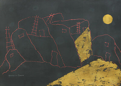 Golden Moon by Giovanni Bruno - Mixed Media