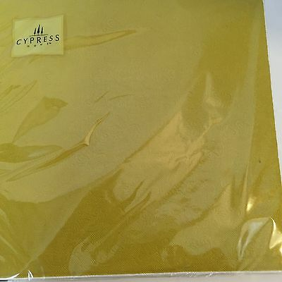 "NEW Cypress Home 20 Pack Mod Floral Embossed Luncheon Napkins 6.5"" Square"