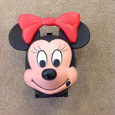 Vintage Minnie Mouse Lunch Box with New Thermos Some Facial Marks Was Stored