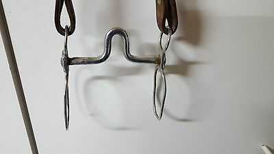 Vintage Curb Bit, High port, Headstall with silver embellishments