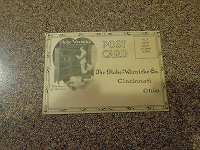 Vintage 1900's The Globe-Wernicke Co. OH. Advertising Postcard~River Forest Ill.