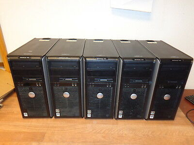 Lot of 5 DELL OPTIPLEX 740 AMD Athlon Dual Core 2GHz 320 GB HD 2 GB Ram CDROM