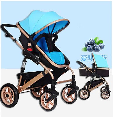 LUXURY Baby Stroller Jogger Foldable Carriage Infant Travel Pram Baby Pushchair